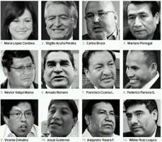 lista de congresistas electos: