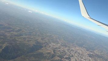 Ovni en forma de saeta sobre Sao Paulo vuelo LAN PERU